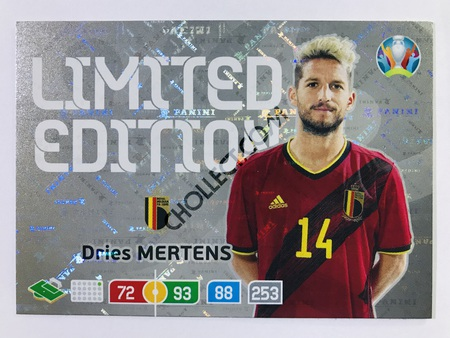Dries Mertens (Belgium) - Limited Edition | Panini Adrenalyn XL UEFA Euro 2020 #LE