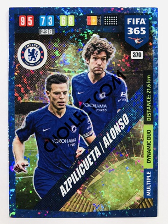 Marcus Alonso (Chelsea) - Dynamic Duo | 2020 Adrenalyn XL FIFA 365 #370