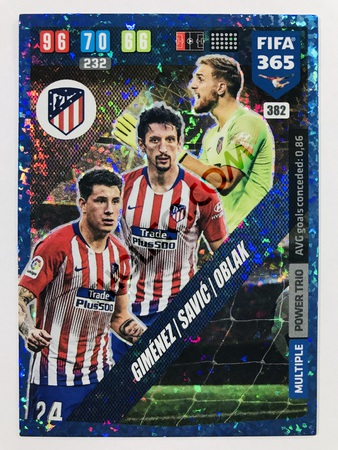 Jan Oblak (Atletico de Madrid) - Power Trio | 2020 Adrenalyn XL FIFA 365 #382