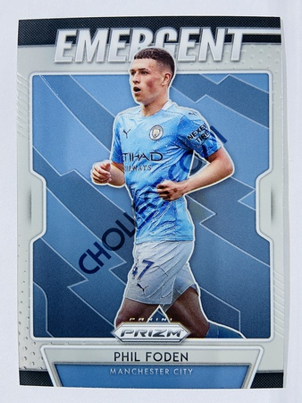 Phil Foden - Manchester City 2020-21 Panini Prizm Emergent Insert #7